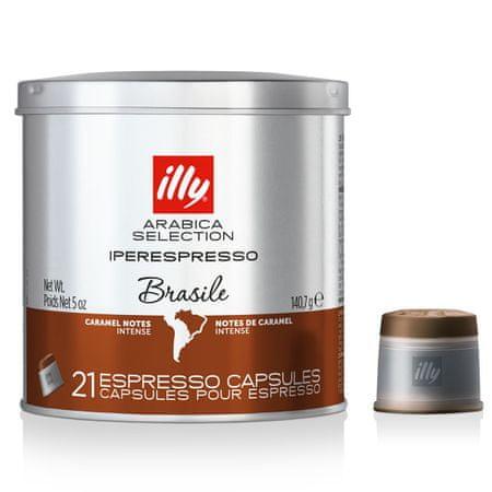 illy kavne kapsule iperEspresso Monoarabica Brasile, 21 kapsul