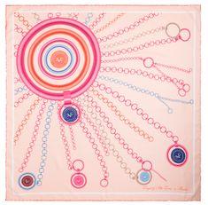 VERSACE 19.69 dámský růžová šátek Sunshine