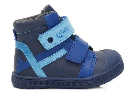 Ponte 20 chlapecké kožené boty 22 niebieski