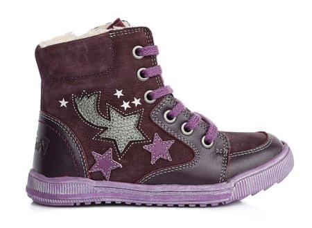 0ee79a7fa67a1 Ponte 20 dievčenské kožené topánky s hviezdami 28 fialová | MALL.SK