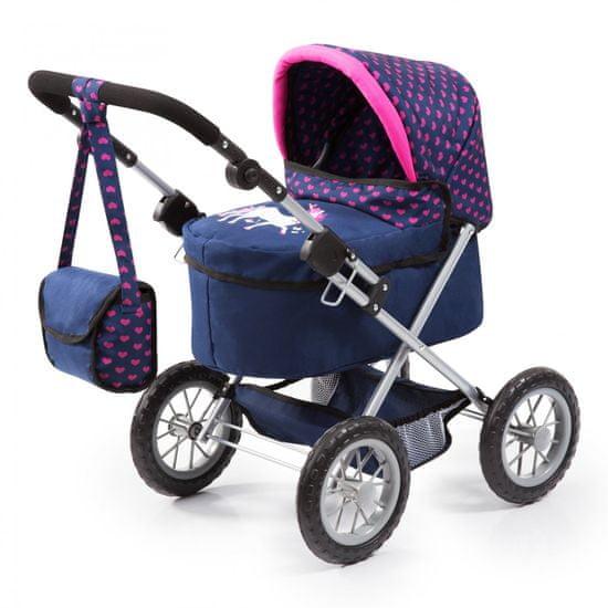 Bayer Design Trendy kočárek pro panenky modrá/růžová