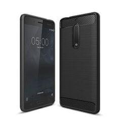 silikonska maska Mat Carbon za Nokia 6, crna