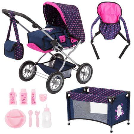 Bayer Design zestaw akcesoriów dla lalek Combi Grande Set, różowy/niebieski