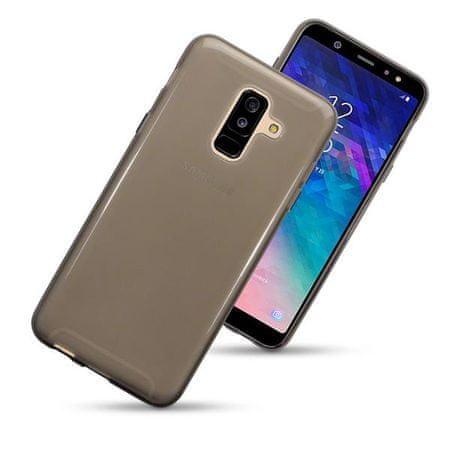 Ultra tanek silikonski ovitek za Samsung Galaxy A6 2018, črn