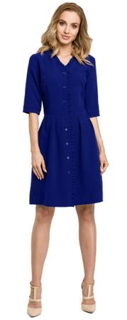 Made of Emotion ženska obleka, temno modra, S