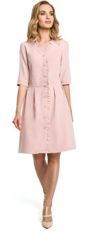 Made of Emotion ženska obleka, svetlo roza, XL