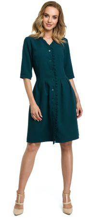 Made of Emotion ženska obleka, zelena, L