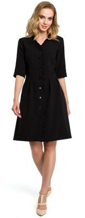 Made of Emotion ženska obleka, črna, XL