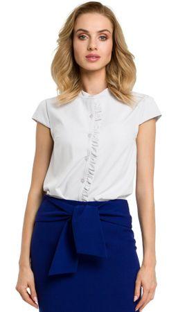 Made of Emotion ženska bluza, bela, M