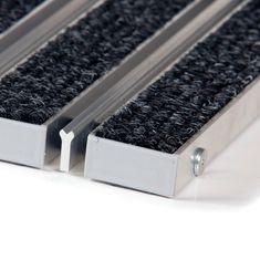 FLOMA Textilní hliníková kartáčová vnitřní vstupní rohož Alu Wide, FLOMA - 2,2 cm