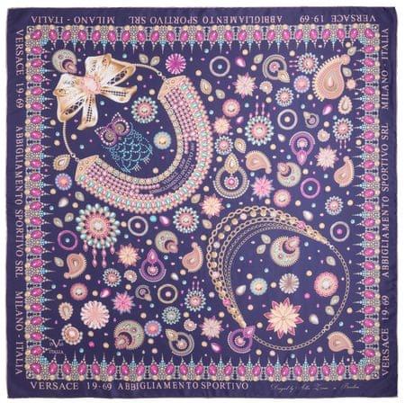 VERSACE 19.69 ženske marame ljubičasta Jewels