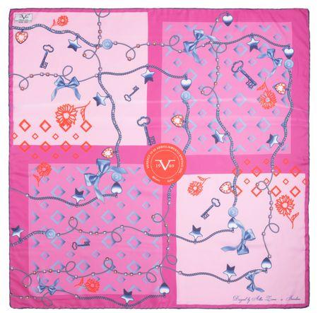 VERSACE 19.69 dámský ružový šátek Master Key