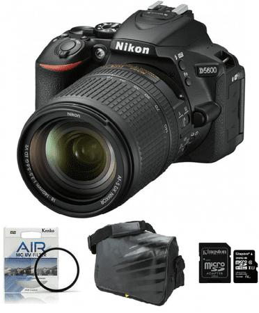 Nikon fotoaparat D-5600 kit 18-140VR + Fatbox 32GB + UV filter
