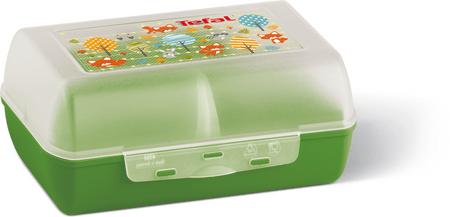TEFAL VARIOBOLO CLIPBOX uzsonnás doboz zöld/áttetsző-róka K3160414