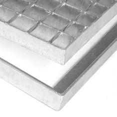 FLOMAT Čistící venkovní vstupní rohož ze svařovaných podlahových roštů bez gumy bez pracen Galva - 3,5 cm