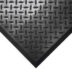 Černá gumová protiskluzová průmyslová modulární rohož Comfort-Lok, 02 - 80 cm, 70 cm a 1,25 cm