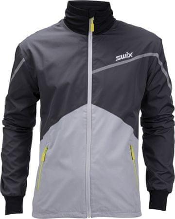 Swix moška jakna Xtraining, črno siva, M
