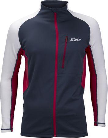 Swix bluza męska Dynamic niebieski/biały L