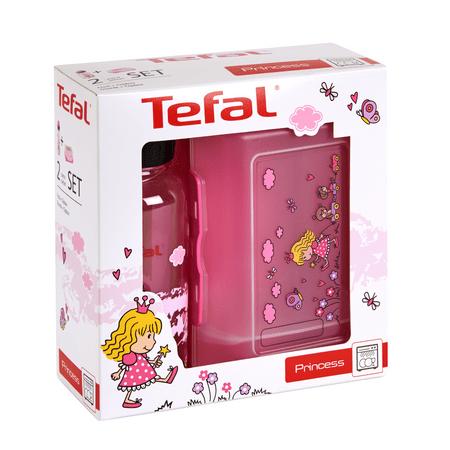 Tefal KIDS sada dóza plast+láhev tritan 0,4 L růžová-princezna K3169114