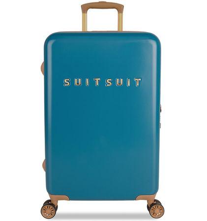 SuitSuit Cestovný kufor TR-7102/3-M - Fab Seventies Seaport Blue