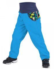 Unuo chlapecké softshellové kalhoty s fleecem - Medvěd