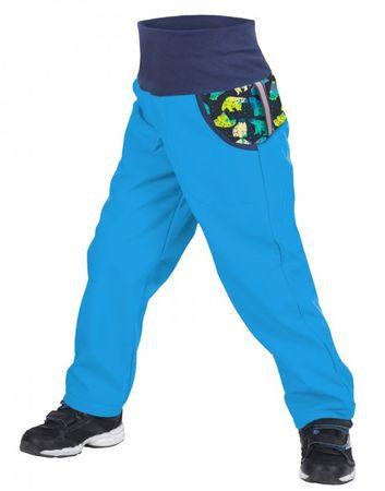 Unuo chlapecké softshellové kalhoty s medvědem 116 - 122 modrá