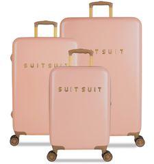 SuitSuit komplet potovalnih kovčkov TR-7101/3 - Fab Seventies Coral Cloud, roza