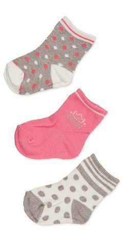 Losan dívčí set 3ks ponožek 80 vícebarevná