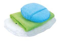 KAJA Súprava na umývanie auta, 3 ks: 1 x utierka a 1 x hubka mikrovlákno, 1 x umývacie rukavice