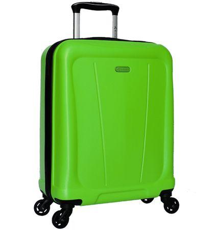Sirocco Utazó bőrönd T-1213/1-S ABS - zöld