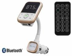 Blow FM oddajnik 74-129, 3v1, Bluetooth + polnilec + prostoročno telefoniranje, bel