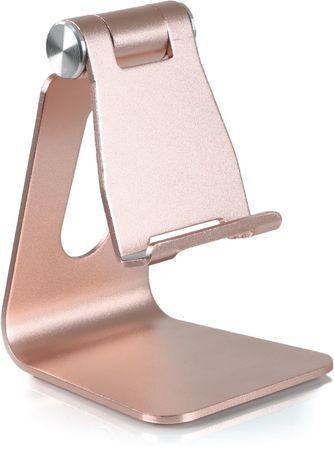 DESIRE2 univerzális alumínium állvány mobiltelefonok részére, rózsaszín arany WTT-AS05GD