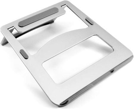 DESIRE2 prenosno aluminijasto stojalo za prenosni računalnik, srebrno WTT-AS02SI
