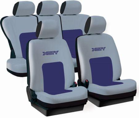 Harmony prevleke za sedeže X-City, sivo-modre