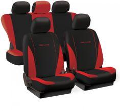 Tech prevleke za sedeže Deluxe Spring, rdeče-črne