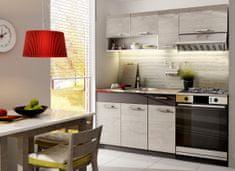 Kuchyně MOOREA 120/180 cm, dub picard/lava