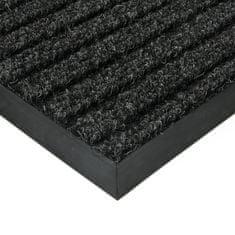 FLOMAT Černá textilní zátěžová čistící vnitřní vstupní rohož Shakira, FLOMAT - 1,6 cm