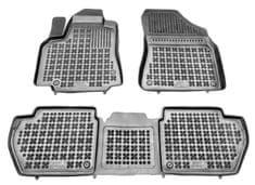 REZAW-PLAST Gumové koberce, súprava 3 ks (2x predné, 1x spojený zadný), Citroen Berlingo, Peugeot Partner od r. 2008
