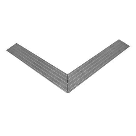 Hliníkový náběhový rám pro vstupní rohože a čistící zóny 60 x 260 - 6,5 x 2 cm