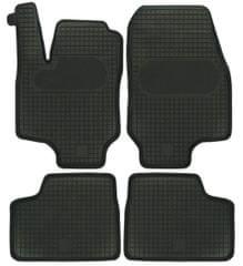 POLGUM Gumové koberce, súprava 4 ks, čierne, pre vozidlá Opel Astra Classic II a Opel Astra G (II)