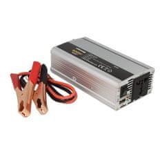 WHITENERGY Menič napätia do auta 24/230 V, 400 W s USB