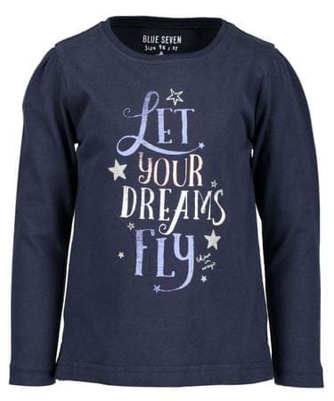 Blue Seven koszulka dziewczęca z napisem 98 niebieska
