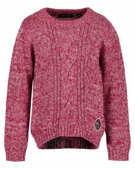Blue Seven dívčí pletený svetr 92 bílá/červená