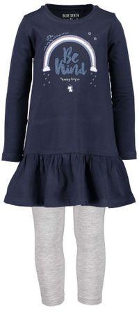 Blue Seven dívčí set tuniky a legín 92 šedá/modrá