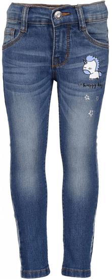Blue Seven džínové kalhoty s jednorožcem 104 modrá