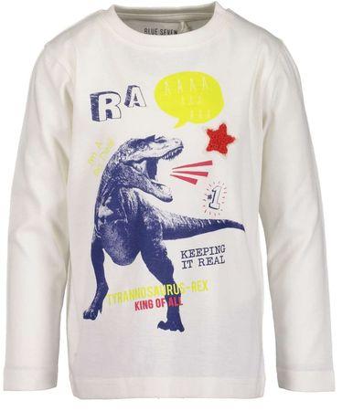 Blue Seven t-shirt chłopięcy z dinozaurem 98 biały