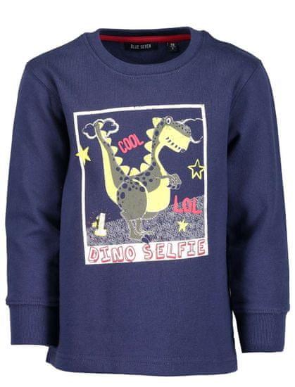 Blue Seven chlapecká mikina s dinosaurem 98 modrá