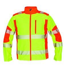Cerva Reflexná softshellová bunda a vesta Latton žltá/oranžová S