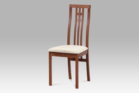 Dřevěná židle JARED, třešeň/potah krémový
