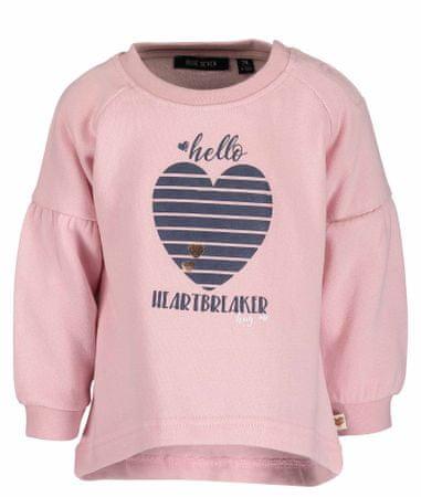 Blue Seven dívčí svetr se srdcem 62 růžová